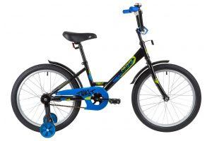 "Велосипед NOVATRACK 20"" TWIST черный, тормоз нож, крылья корот, защита А-тип"