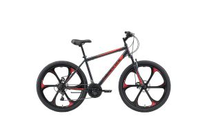 Велосипед Black One Onix 26 D FW серый/черный/красный 2020-2021