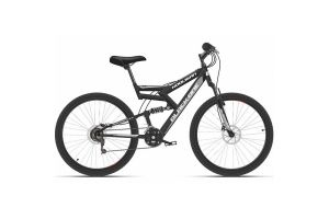 Велосипед Black One Hooligan FS 26 D черный/серый 2020-2021