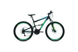 Велосипед 27,5' Forward Raptor 27,5 2.0 disc Черный/Бирюзовый 19-20 г