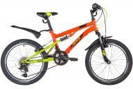 """Подростковый велосипед  NOVATRACK 20"""" TITANIUM, красный, сталь, 12 скор., SHIMANO, V-Brake"""