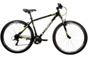 """Велосипед STINGER 27.5"""" CAIMAN черный, сталь, размер 18"""""""