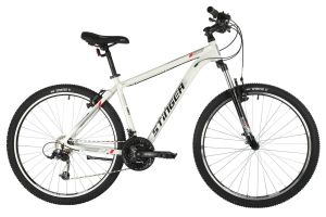 "Велосипед STINGER 27.5"" ELEMENT STD белый, алюминий, размер 16"", MICROSHIFT"