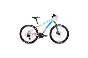 Велосипед 26' Forward Flash 26 2.2 S disc Белый/Голубой 20-21 г
