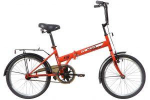 """Велосипед NOVATRACK 20"""" складной, TG30, красный, тормоз 1 руч. и нож.,двойной обод,"""