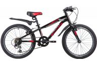 "Подростковый велосипед  NOVATRACK 20"", PRIME, чёрный, алюм., 6-скор, TY21/TS38/SG-6SI, V-brake"